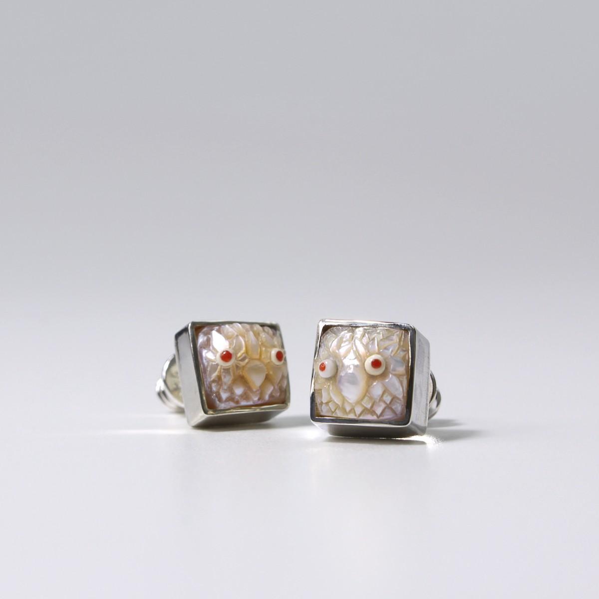 Auskarai su perlais Pelėdos